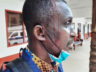 HOT: WASSCE Candidates Beat Daily Graphic Journalist Till He Bleeds With Knives, Cutlass and Stick -SEE PHOTOS