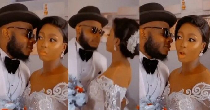 Drama As Newly Wedded Woman Refuses to Kiss Her Husband Because She Wants to Protect Her Make-up -[WATCH VIDEO]