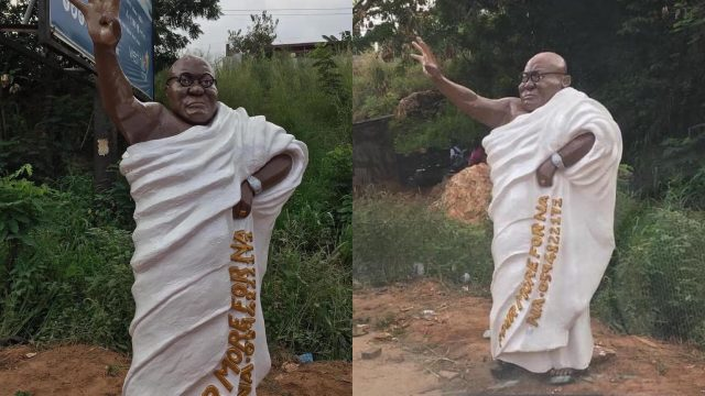 Strange Statue Of Akufo Addo That Gives Nightmare Sets Internet On Fire and Gets Ghanaians Talking -[SEE PHOTOS]