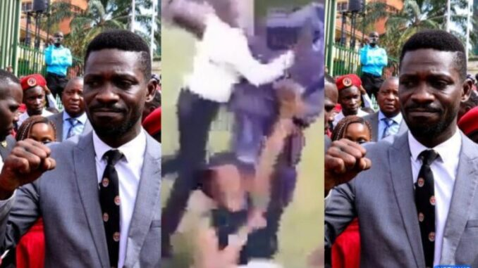 Police Officers Strip Bobi Wine's Wife N@ked, Torture Her Infront Her Son; Video Goes Viral -[WATCH VIDEO]